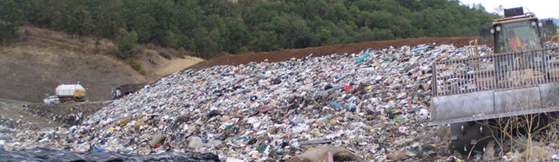 80% of consumer plastics end up in our <br />landfills, oceans, rivers and forest areas